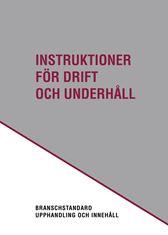 E-BOK Instruktioner för drift o underhåll. Utg 3