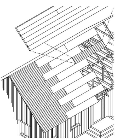 Figur AMA GSN.18/1. Exempel på förbandsmontering av underlagsspontluckor.